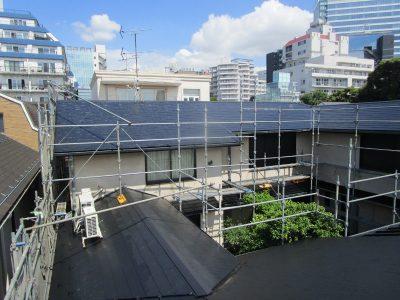 画像:遮熱塗料クールヤネを使用してスレート屋根を塗替ました